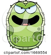 Cartoon Evil Green Cell Germ