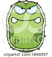 Cartoon Mad Green Cell Germ