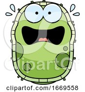 Cartoon Scared Green Cell Germ