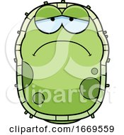 Cartoon Sad Green Cell Germ