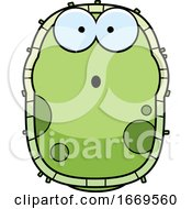 Cartoon Surprised Green Cell Germ