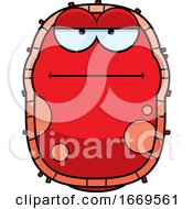 Cartoon Bored Red Cell Germ