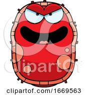 Cartoon Evil Red Cell Germ