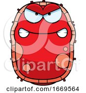 Cartoon Mad Red Cell Germ