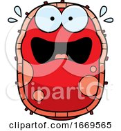 Cartoon Scared Red Cell Germ