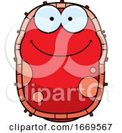 Cartoon Happy Red Cell Germ by Cory Thoman