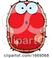 Cartoon Surprised Red Cell Germ by Cory Thoman
