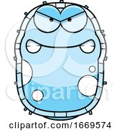Cartoon Mad Blue Cell Germ
