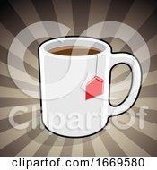 Poster, Art Print Of Coffee Or Tea Over Rays
