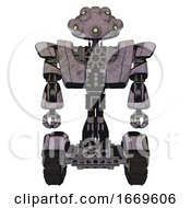 Bot Containing Techno Multi Eyed Domehead Design And Heavy Upper Chest And Heavy Mech Chest And Tank Tracks Sketch Fast Lines Front View