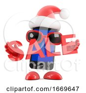 3d Santa Smartphone Holds A Sale