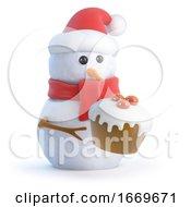 3d Santa Snowman Loves Cupcakes
