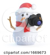 3d Santa Snowman Takes Some Holiday Snaps