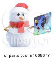 3d Snowman Pays His Bill