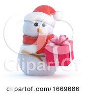 3d Santa Snowman Christmas Gift
