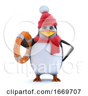 3d Winter Penguin Comes To The Rescue