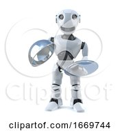 3d Robot Offers Silver Service Platter
