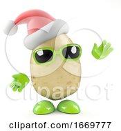 3d Santa Potato