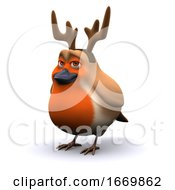Poster, Art Print Of 3d Robin The Red Nosed Reindeer