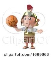 3d Roman Soldier Plays Basketball