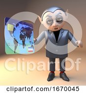 Dracula Vampire 3d Halloween Monster Paying With A Debit Credit Card 3d Illustration