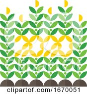Happy New Year Greeting Card with Corn Crop and 2020 Lettering. Elegant Flat Style Vector Illustration for Agricultural Brochure Cover or Farming Calendar by elena #COLLC1670051-0147