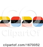 Multicolored Numbers 2020 And Happy New Year Greetings Isolated On White Background Elegant Vector Illustration In Retro Style For Holiday Calendar Or Greeting Card