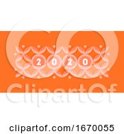 Abstract Design With Elegant Numbers 2020 On Pastel Colored Geometric Pattern With Circles And Stars Modern Vector Illustration For Calendar Banner Or Web Page