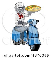 Wolf Chef Pizza Restaurant Delivery Scooter