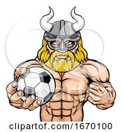 Viking Soccer Football Sports Mascot