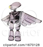 Cyborg Containing Yellow Cyclops Dome Head And Light Chest Exoshielding And Pilots Wings Assembly And No Chest Plating And Light Leg Exoshielding Sketch Pad Dots Pattern