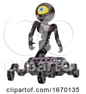 Bot Containing Giant Eyeball Head Design And Light Chest Exoshielding And Ultralight Chest Exosuit And Insect Walker Legs Sketch Pad Wet Ink Smudge Hero Pose