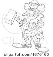 Lineart Evil Clown