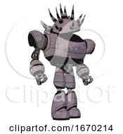 Cyborg Containing Black And White Anemone Dome Head And Heavy Upper Chest And Triangle Of Blue Leds And Light Leg Exoshielding Dark Sketch Hero Pose