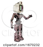 Droid Containing Old Computer Monitor And Please Stand By Pixel Design And Retro Futuristic Webcam And Light Chest Exoshielding And Ultralight Chest Exosuit And Prototype Exoplate Legs