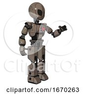 Robot Containing Grey Alien Style Head And Black Eyes And Light Chest Exoshielding And Red Energy Core And Prototype Exoplate Legs Patent Khaki Metal Interacting