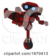 Bot Containing Dual Retro Camera Head And Cute Retro Robo Head And Yellow Head Leds And Light Chest Exoshielding And Red Energy Core And Stellar Jet Wing Rocket Pack And Unicycle Wheel