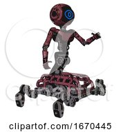 Robot Containing Digital Display Head And Large Eye And Light Chest Exoshielding And Ultralight Chest Exosuit And Insect Walker Legs Muavewood Halftone Grunge Interacting