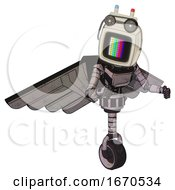 Bot Containing Old Computer Monitor And Please St And By Pixel Design And Old Computer Magnetic Tape And Light Chest Exoshielding And Ultralight Chest Exosuit And Pilots Wings Assembly