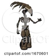 Bot Containing Flat Elongated Skull Head And Light Chest Exoshielding And No Chest Plating And Light Leg Exoshielding And Stomper Foot Mod Light Brown Halftone Interacting