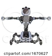 Automaton Containing Green Dot Eye Corn Row Plastic Hair And Heavy Upper Chest And No Chest Plating And Insect Walker Legs Blue Tint Toon T Pose