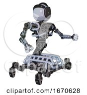 Automaton Containing Green Dot Eye Corn Row Plastic Hair And Heavy Upper Chest And No Chest Plating And Insect Walker Legs Blue Tint Toon Interacting