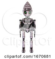 Bot Containing Grey Alien Style Head And Green Inset Eyes And Light Chest Exoshielding And Rocket Pack And No Chest Plating And Ultralight Foot Exosuit Sketch Pad Doodle Lines Front View