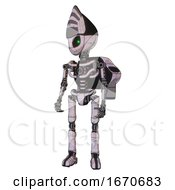 Bot Containing Grey Alien Style Head And Green Inset Eyes And Light Chest Exoshielding And Rocket Pack And No Chest Plating And Ultralight Foot Exosuit Sketch Pad Doodle Lines
