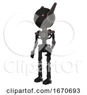 Robot Containing Round Head And Large Cyclops Eye And Head Winglets And Light Chest Exoshielding And No Chest Plating And Ultralight Foot Exosuit Toon Black Scribbles Sketch Facing Right View