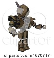 Automaton Containing Round Head And Three Lens Sentinel Visor And Head Winglets And Heavy Upper Chest And Heavy Mech Chest And Prototype Exoplate Legs Desert Tan Painted Interacting