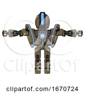 Droid Containing Round Head And Large Vertical Visor And Heavy Upper Chest And Heavy Mech Chest And Spectrum Fusion Core Chest And Prototype Exoplate Legs Desert Tan Painted T Pose