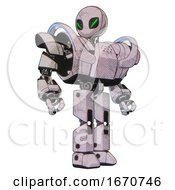 Robot Containing Grey Alien Style Head And Green Demon Eyes And Heavy Upper Chest And Heavy Mech Chest And Battle Mech Chest And Prototype Exoplate Legs Sketch Pad Light Hero Pose
