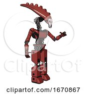 Cyborg Containing Flat Elongated Skull Head And Light Chest Exoshielding And Ultralight Chest Exosuit And Prototype Exoplate Legs Light Brick Red Interacting