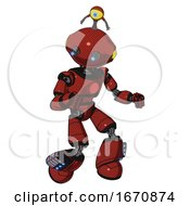 Android Containing Oval Wide Head And Telescopic Steampunk Eyes And Minibot Ornament And Light Chest Exoshielding And Red Chest Button And Light Leg Exoshielding And Megneto Hovers Foot Mod